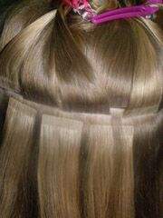 Ленточное наращивание волос киев